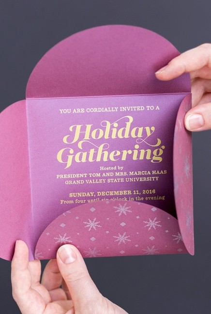 Holiday invitation design
